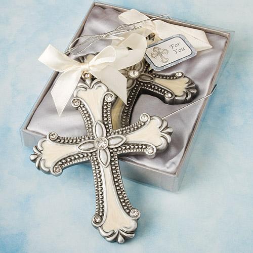 Baptism Ornament Cross Ornament Boy Baptism Ornament: 48 Decorative Cross Ornament Christening / Baby Shower